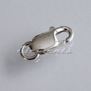 Sterling Silver Lobster Trigger Clasp with Ring